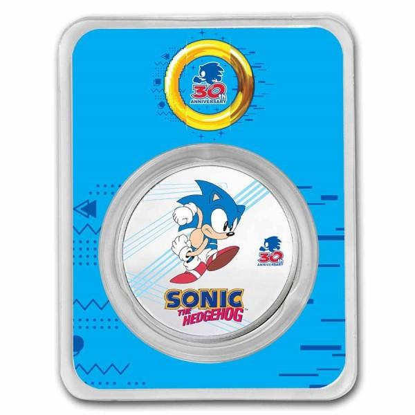Sonic the Hedgehog, 1 Oz Silbermünze coloriert, 2021