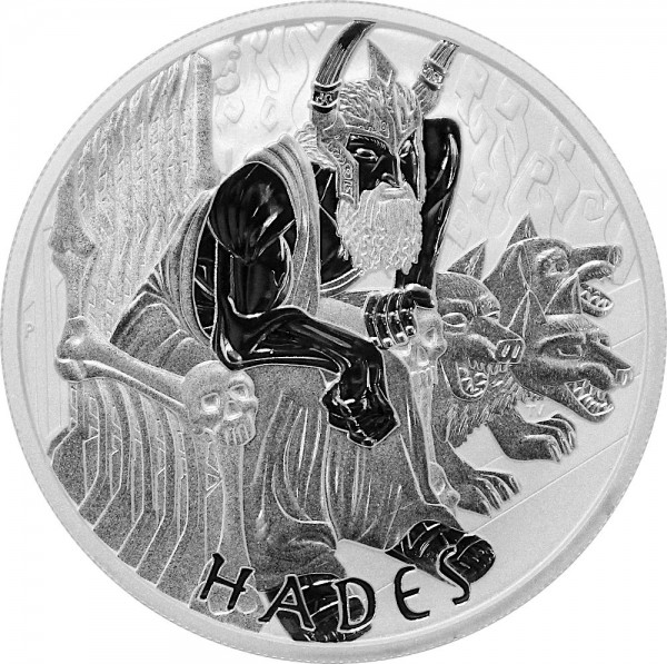 Gods of Olympus Hades, 1 Oz Silbermünze, 2021