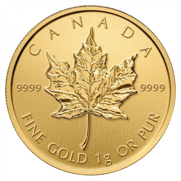 Maple Leaf, 1 Gramm Goldmünze, 2021