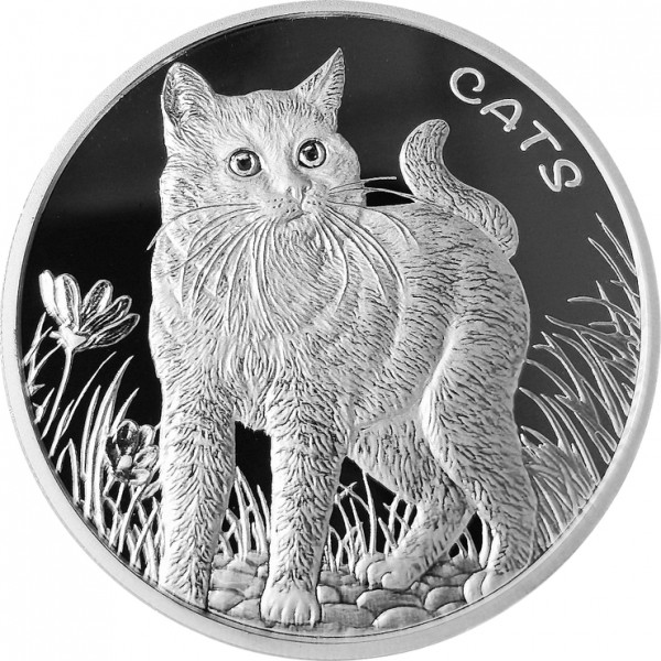 Fiji Cats, 1 Oz Silbermünze, 2021