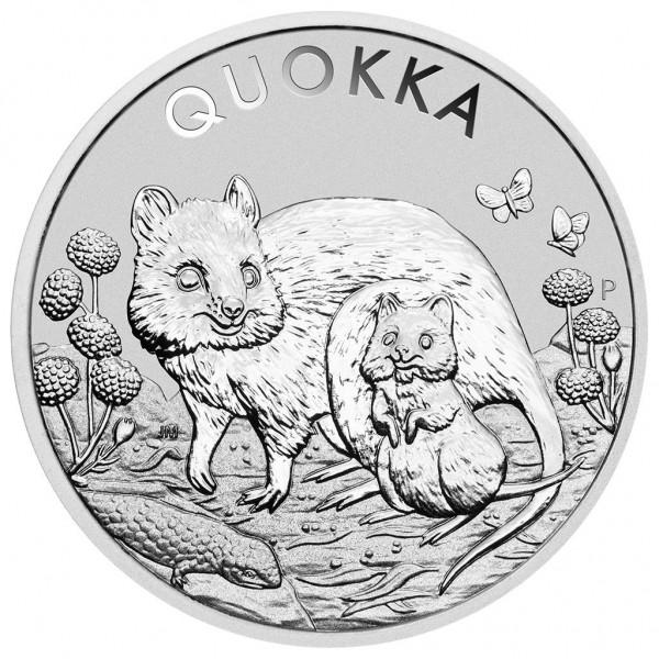 Quokka, 1 Oz Silbermünze, 2021