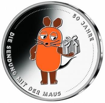 20 Euro Sendung mit der Maus, Silbermünze, 2021