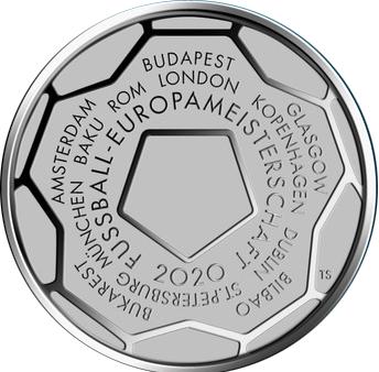 20 Euro EM Gedenkmünze BRD, Silbermünze, 2021