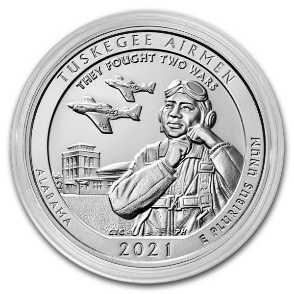 Tuskegee Airmen, 5 Oz Silbermünze, 2021