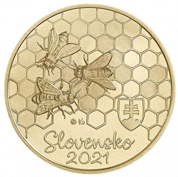 5 Euro Honigbiene, 2021