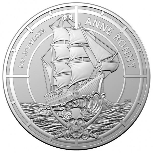 Anne Bonny, Pirate Queens, 1 Oz Silbermünze, 2021