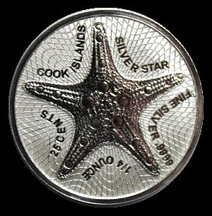 Cook Islands Starfish, 1/4 Oz Silbermünze, 2021