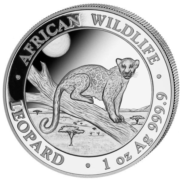 Somalia Leopard, 1 Oz Silbermünze, 2021