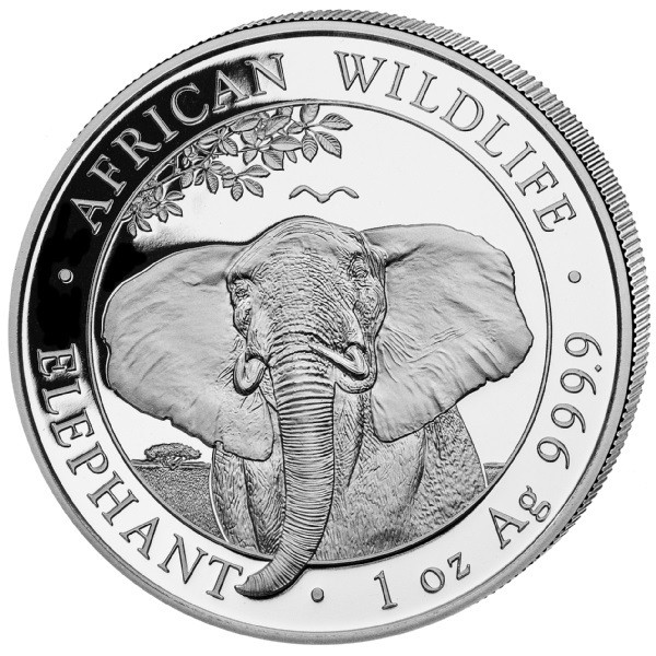 Somalia Elefant, 1 Oz Silbermünze, 2021