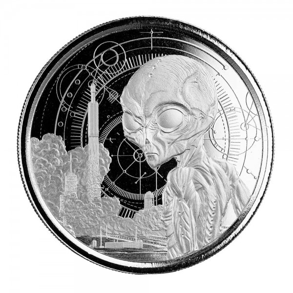Ghana Alien, 1 Oz Silbermünze, 2021