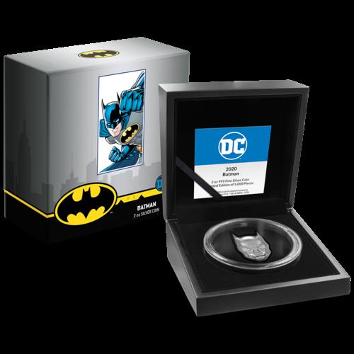 DC Comics, Batman Head, 2 Oz Silbermünze, 2021
