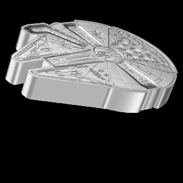 Star Wars™: Millennium Falcon™ Shaped Coin, 1 Oz Silbermünze, 2021